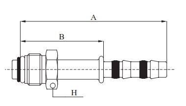 "Fitting Aussengewinde O-Ring gerade DN8 5/8""-18-UNF-2A"